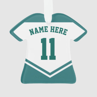 Jersey Name Number Ornament Template, Soccer Rugby