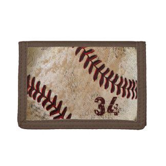 Jersey NUMBER or YOUR MONOGRAM Baseball Wallet