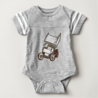 Jersey onsie with white sprint car baby bodysuit