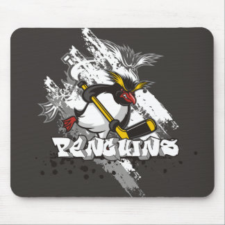 Jersey Penguins Graffiti Mouse Pad