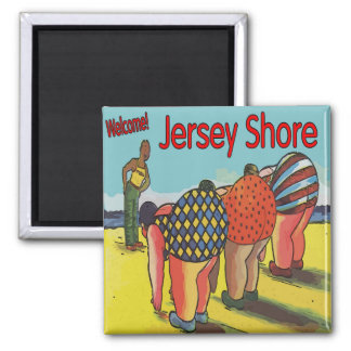 Jersey Shore Exercise Class Square Magnet
