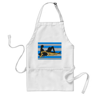 Jersey Shore, Gal on Beach Towel Aprons