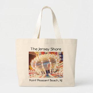 Jersey Shore - Pt. Pleasant Beach - Himalaya Large Tote Bag