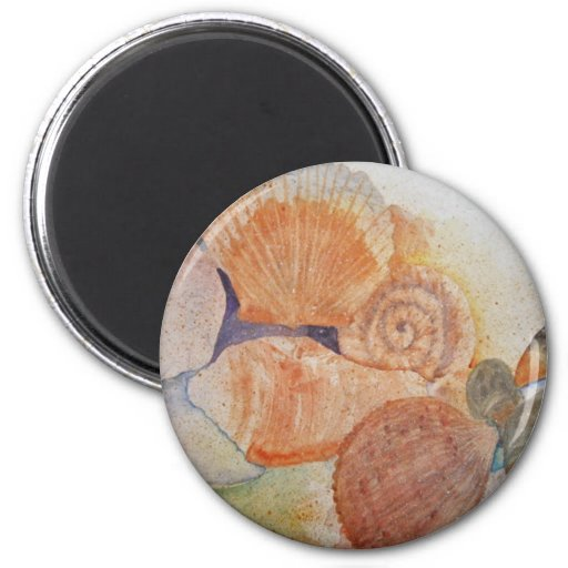 Jersey Shore Seashells Mug Magnets
