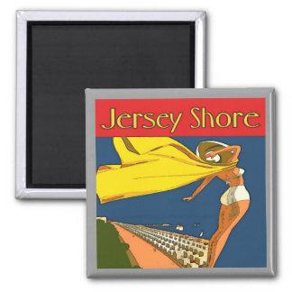 Jersey Shore Vintage Square Magnet