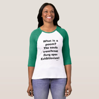 Jersey T-shirt, Haiku by Mollie Rael T-Shirt