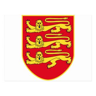 Jersey (UK) Coat of Arms Postcard