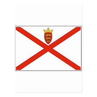 Jersey (UK) Flag Postcard