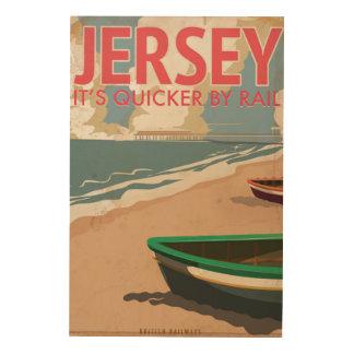 Jersey Vintage locomotive Travel Poster