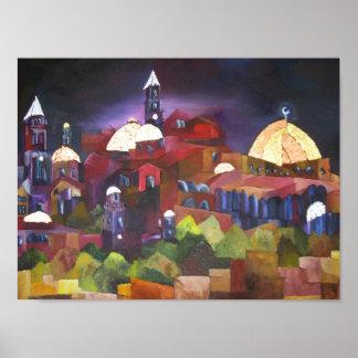 Jerusalem At Night Poster