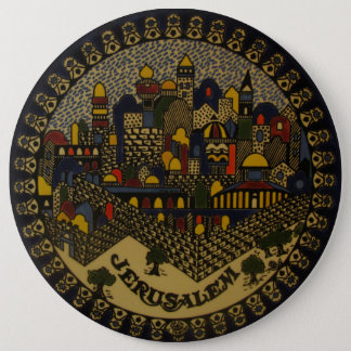 Jerusalem Ceramic 6 Cm Round Badge