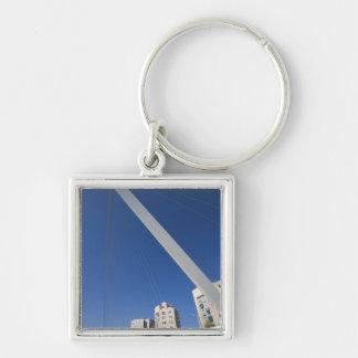 Jerusalem Chords Bridge Silver-Colored Square Key Ring