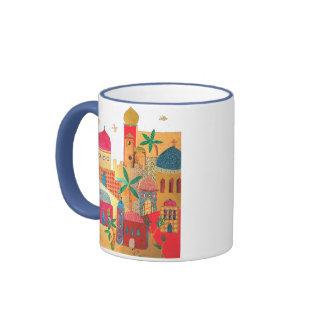 Jerusalem City Colorful Art Coffee Mugs