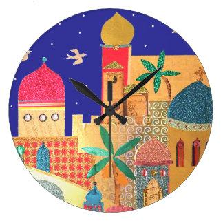 Jerusalem City Colorful Art Wallclock