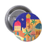 Jerusalem City Colourful Art Badge