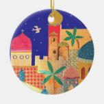 Jerusalem City Colourful Art Christmas Tree Ornaments