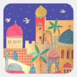 Jerusalem City Colourful Art Sticker