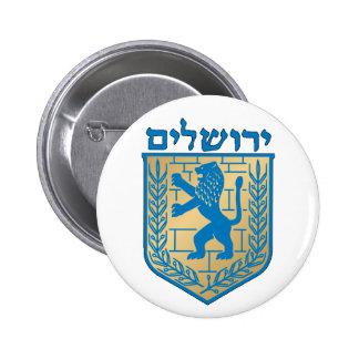 Jerusalem Coat of Arms 6 Cm Round Badge