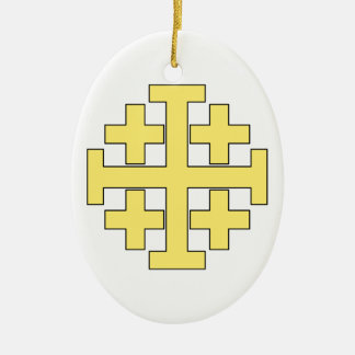 Jerusalem Cross Ceramic Ornament