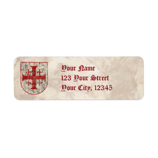 Jerusalem Cross, Distressed Return Address Label