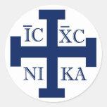 Jerusalem Cross Round Stickers