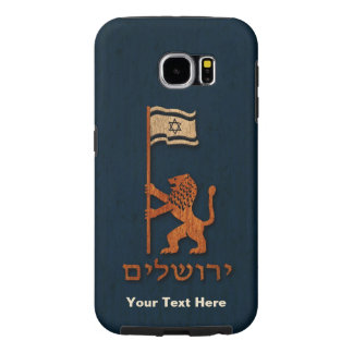 Jerusalem Day Lion With Flag Samsung Galaxy S6 Cases