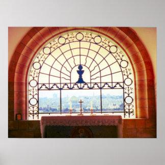 """Jerusalem """"Dominus Flevit"""" chapel, Mount of Olives Poster"""