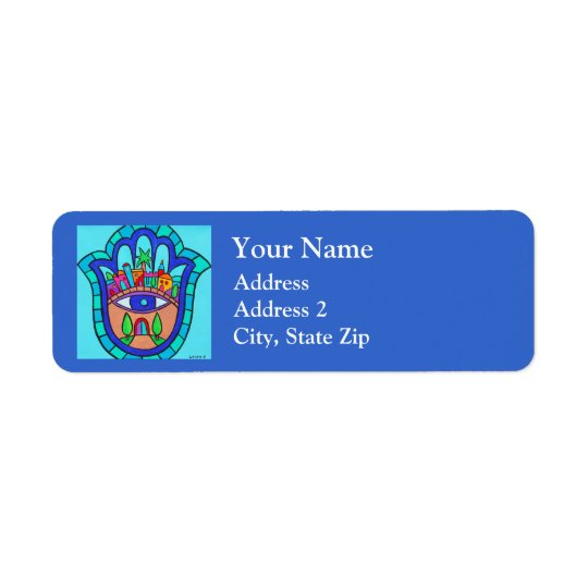 Jerusalem Hamsa Return Address Label