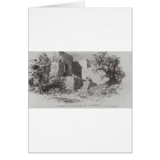 Jerusalem. Ladder to the east side of the track. Greeting Card
