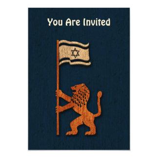 Jerusalem Lion With Flag Card