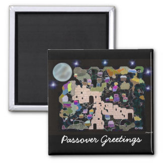 Jerusalem Moon Passover Greetings Magnet
