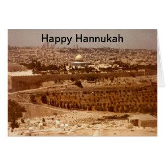 Jerusalem of Gold Hannukah Card
