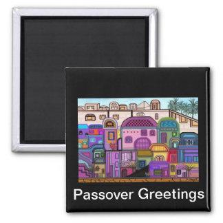 Jerusalem Tapestry Passover Magnet