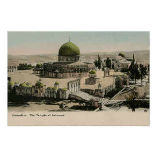 Jerusalem The Temple of Solomon ca 1900 Poster