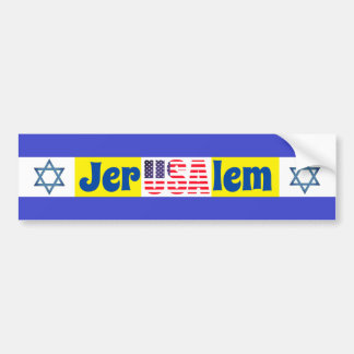 Jerusalem USA Bumper Sticker