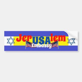Jerusalem USA embassy Bumper Sticker