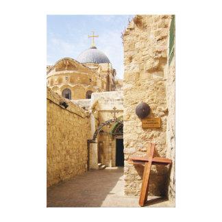 Jerusalem Via Dolorosa Station IX of the Cross Canvas Prints