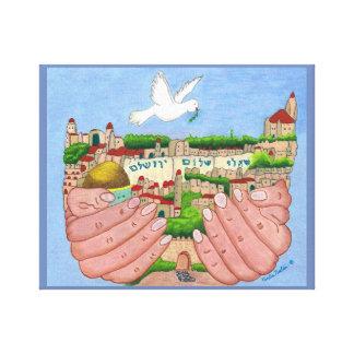 Jerusalem wrapped canvas art