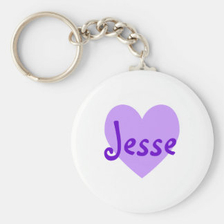 Jesse in Purple Basic Round Button Key Ring