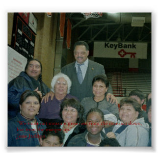 Jesse Jackson With Native Americans Poster