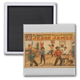 Jesse James, 'This Money Belongs to me' Vintage Th Square Magnet