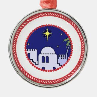 Jesse Tree Bethlehem #1 Metal Ornament