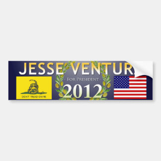Jesse Ventura for President 2012 - Navy, Olive Bumper Sticker