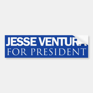 Jesse Ventura for President - Plain Blue Car Bumper Sticker