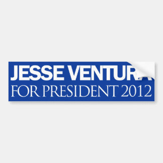 Jesse Ventura Plain Blue 2012 Bumper Sticker