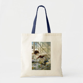 "Jesse Willcox Smith's ""Books in Winter"" Tote Bag"