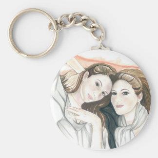Jessica & Chelsea Basic Round Button Key Ring