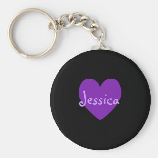 Jessica in Purple Key Ring