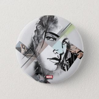 Jessica Jones Face Graphic 6 Cm Round Badge