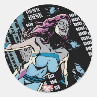 Jessica Jones Jewel Alter Ego Classic Round Sticker
